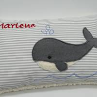 Wal Fisch Namenskissen Taufkissen Kuschelkissen Kindergartenkissen Geburtsgeschenk   Bild 6