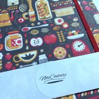 """Notizbuch Rezeptbuch """"My Kitchen"""" ähnlich A5 17,5 x 23 cm Hardcover stoffbezogen Stoff Retro Küche Kochen Bild 7"""