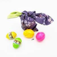 Osterhasen-Beutel, verpacke die kleinen Geschenke nachhaltig in einem Stoffbeutel, süßer Hasen-Stoffbeutel Bild 2