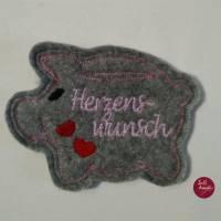 """Wunscherfüller-Glücksschweinchen """"HERZENSWUNSCH""""-  nach DEINEN Wünschen gestaltet.... Bild 1"""