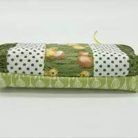 Kosmetiktasche, Schminktasche, Aufbewahrungstäschchen, Küken kombiniert mit Grüntönen, schönes Ostergeschenk Bild 4