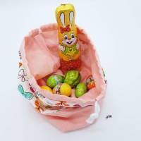 Stofftasche für Osternest und Ostergeschenke, Stoffbeutel mit Zugband nicht nur für Ostern, Brötchenbeutel, Obstbeutel,  Bild 1