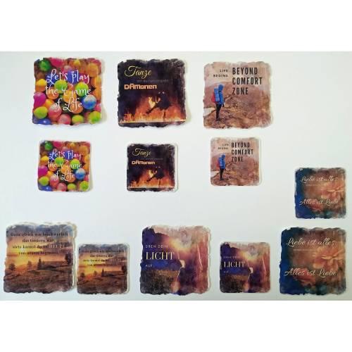 Sticker inspirierende Sprüche | Aufkleber Vinyl
