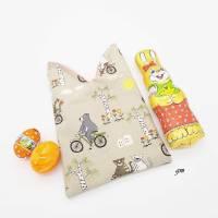 Osterhasen-Beutel, Geschenkbeutel, verpacke die kleinen Geschenke nachhaltig im Stoffbeutel, süßer Hasen-Stoffbeutel  Bild 2