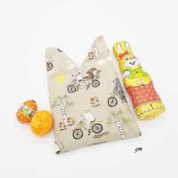Osterhasen-Beutel, Geschenkbeutel, verpacke die kleinen Geschenke nachhaltig im Stoffbeutel, süßer Hasen-Stoffbeutel  Bild 4