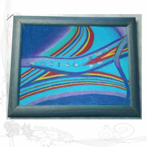 Original-Gemälde *Lilie*, gemalt von der Künstlerin Alanja, keine Versandkosten