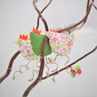 lustige Hühner als 5-teiliges Set, Deko, Fenster Dekoration, Stoffhühner, Küchen-Deko, Geschenkanhänger Bild 3
