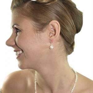 Halskette mit Anhängern, 925 Silber, Perlenkette creme weiß, Kette kleine Perlen, Brautschmuck, Perlen Collier Bild 3
