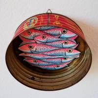 Ölsardinenfrosch, Frosch, Bild, Konservendose, Fischdose, Sardinen, Fische Bild, Frosch Bild, Froschbild, alte Blechdose, Froschkönig Bild 7