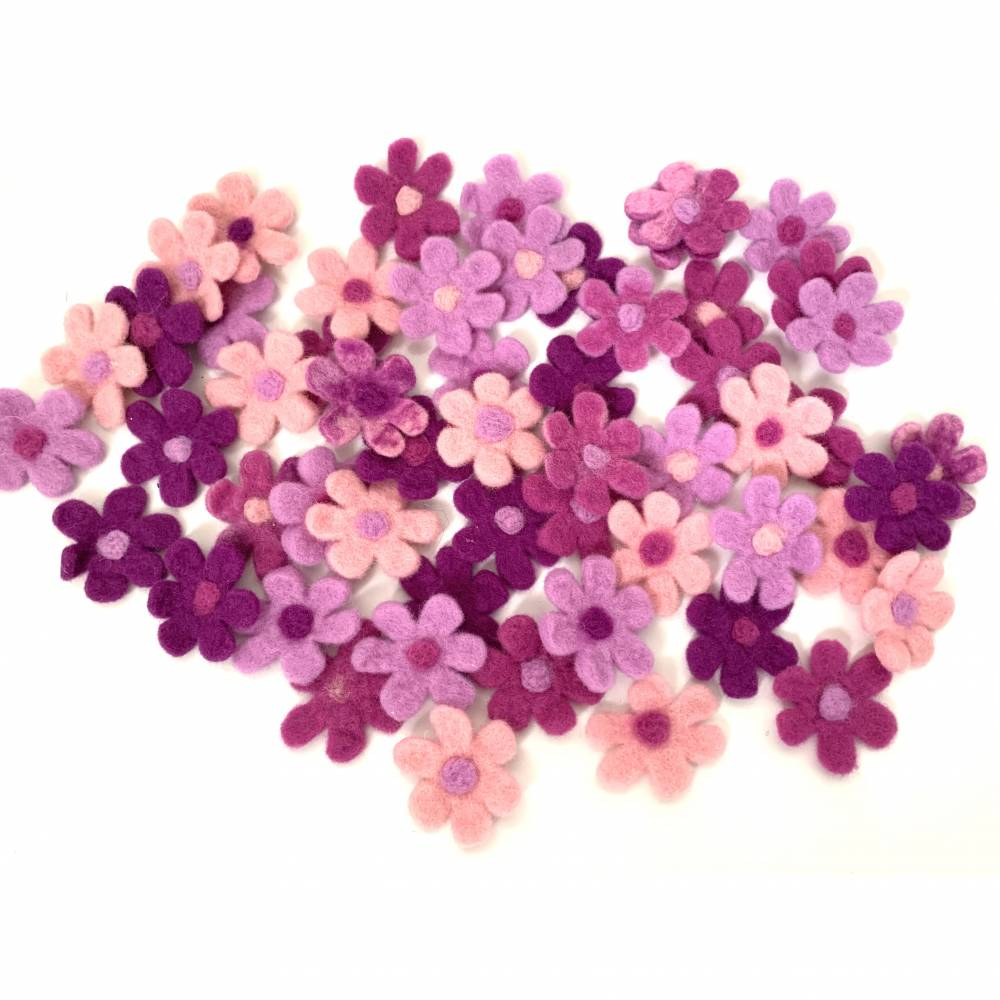 Filzblüten Filzblumen zum dekorieren  Bild 1