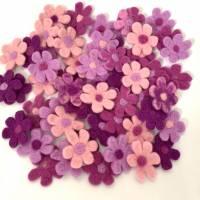 Filzblüten Filzblumen zum dekorieren  Bild 2