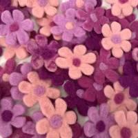 Filzblüten Filzblumen zum dekorieren  Bild 3