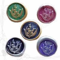 5 handgemachte Siegel Motiv *Maiglöcken Mix*, für DIY-Junk-Journals, keine Versandkosten Bild 1