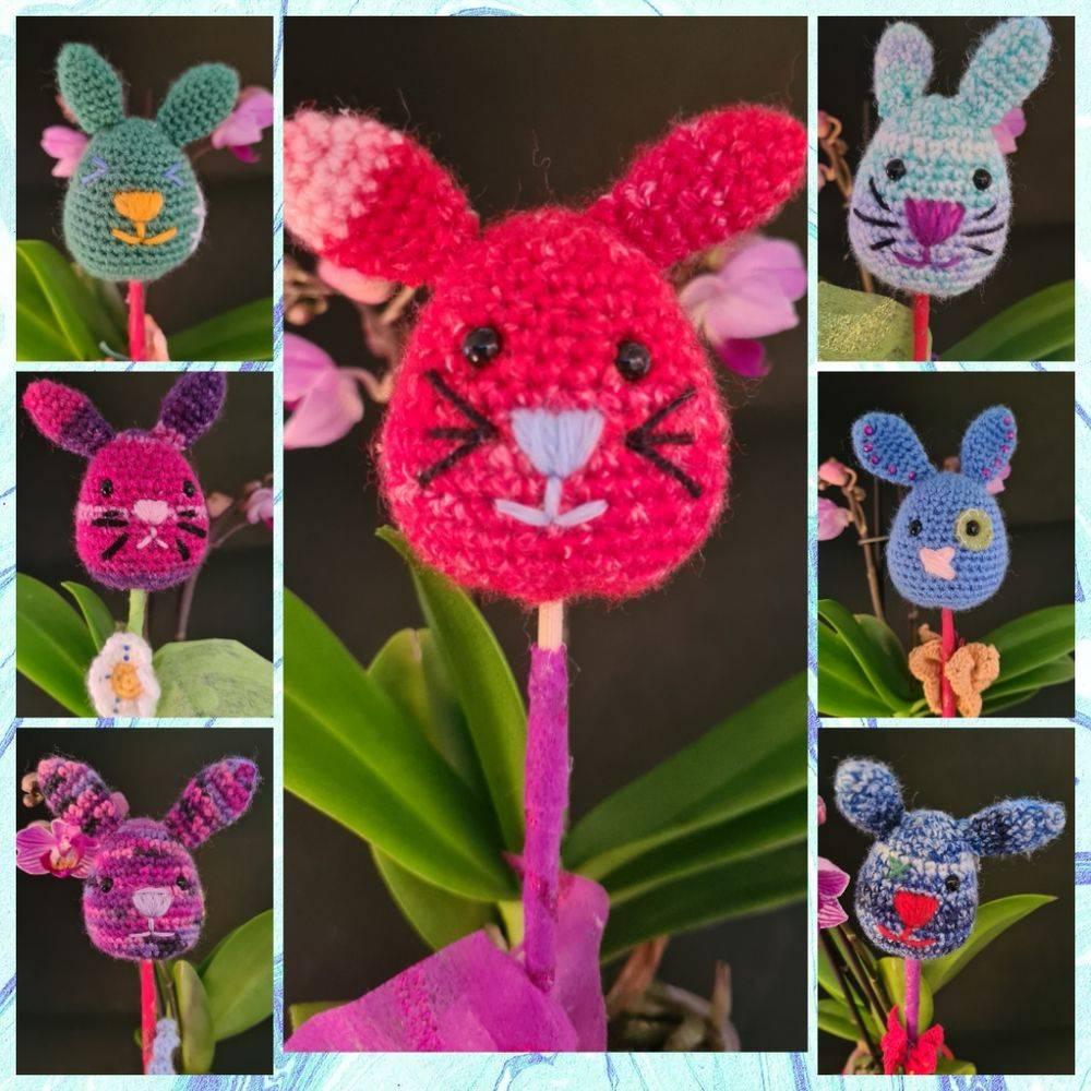 """Funny Bunny / lustige Häschen / Dekoration zu Ostern """"am Spieß"""", verschiedene Designs Bild 1"""