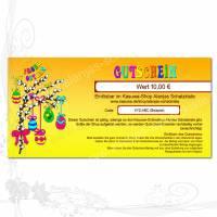 """Geschenk-Gutschein """"Ostern-DIN-lang"""" Preis anpassbar, 300g-Papier-Karte für den Kasuwa-Shop Alanjas Schatzkiste Bild 1"""