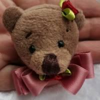 Wunderschöne Brosche Handarbeit Teddybär  Bild 2