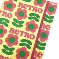 """Notizbuch Kladde """"Pink Retro Flowers"""" A5 stoffbezogen Stoff floral Blume Blüten Retro Geschenk Geschenkidee Bild 1"""