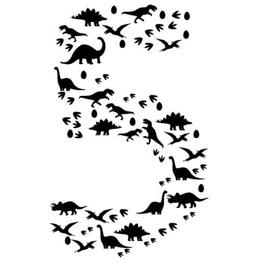 """Plotterdatei """"Dino 5"""" einfarbig, SVG, PDF Bild 1"""