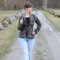 Blazer Winterrose Gr. 34-54 - Pdf-Schnittmuster + Nähanleitung - Blazer mit Schalkragen - tailliert - für Nähanfänger Bild 1