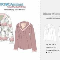 Blazer Winterrose Gr. 34-54 - Pdf-Schnittmuster + Nähanleitung - Blazer mit Schalkragen - tailliert - für Nähanfänger Bild 7