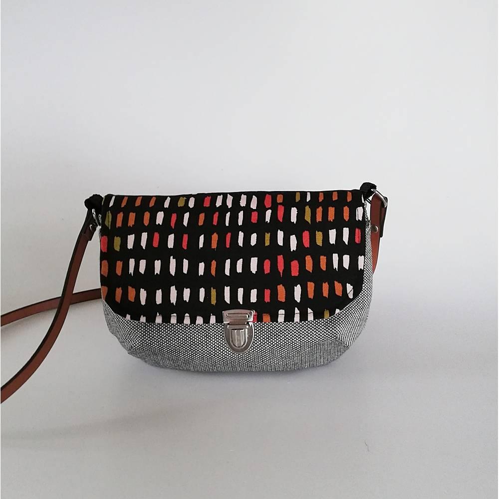 Handtasche, Umhängetasche Eleni -Pinselstriche, Handmade Bild 1