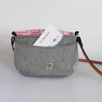 Handtasche, Umhängetasche Eleni -Pinselstriche, Handmade Bild 2