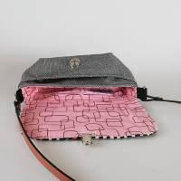 Handtasche, Umhängetasche Eleni -Pinselstriche, Handmade Bild 3