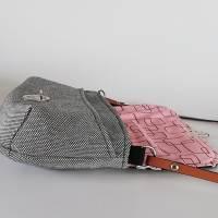 Handtasche, Umhängetasche Eleni -Pinselstriche, Handmade Bild 4