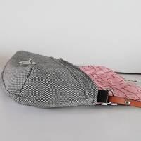 Handtasche, Umhängetasche Eleni -Pinselstriche, Handmade Bild 5