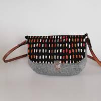 Handtasche, Umhängetasche Eleni -Pinselstriche, Handmade Bild 6