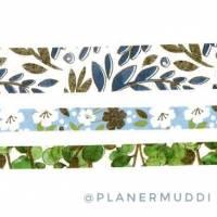 Set 3 Washi-Samples Blumen  Bild 2
