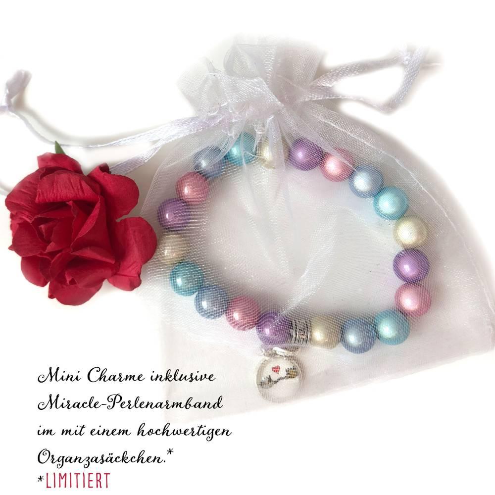 Valentins-Set mit Mini Charme, Miracle-Perlenarmband und Grußkarte Bild 1
