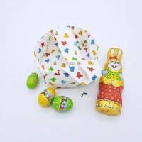 Stoffkorb, kleine Ostertasche, Frühlingserwachen mit Schmetterlingen, Osterbeutel für kleine Geschenke, Bild 2