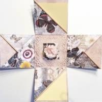 Überraschungsbox Schmetterling Geldgeschenk Geburtstag Namenstag Muttertag Geschenk Verpackung Bild 1