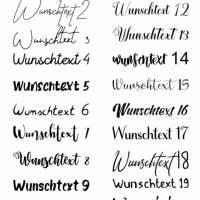 Bügelbild Dein Wunschtext/Name personalisiert Hochzeit Einschulung Geburtstag Schriftzug Bild 2