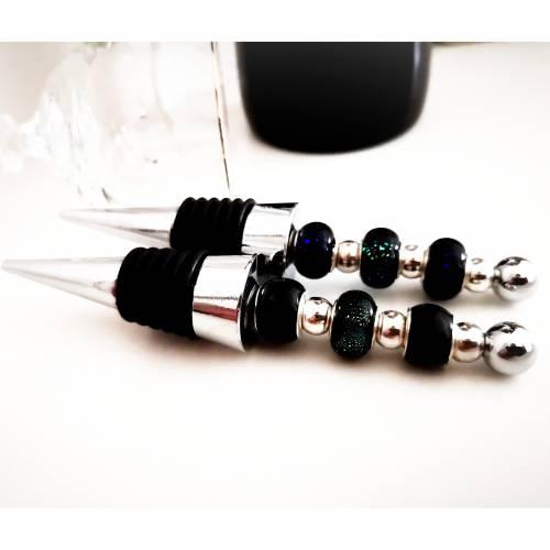 Flaschenverschluss , Zierkorken  passend für alle Wein und Sektflaschen, Lampwokperlen