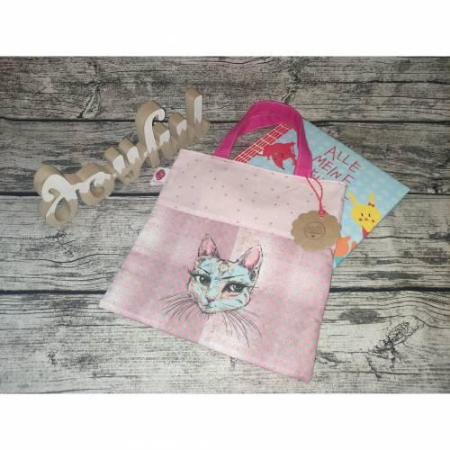 Freundebuch-Tasche mit Katze