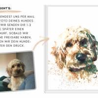 Hunde Portrait | Digital Print im Aquarell Stil | Benutzer definiertes Bild Deines Hundes | Tierportrait nach Foto | Ges Bild 6