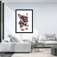 Hunde Portrait | Digital Print im Aquarell Stil | Benutzer definiertes Bild Deines Hundes | Tierportrait nach Foto | Ges Bild 7