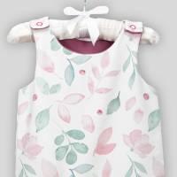Baby Strampler Aquarell Blumen mit Druckknöpfen Bild 4