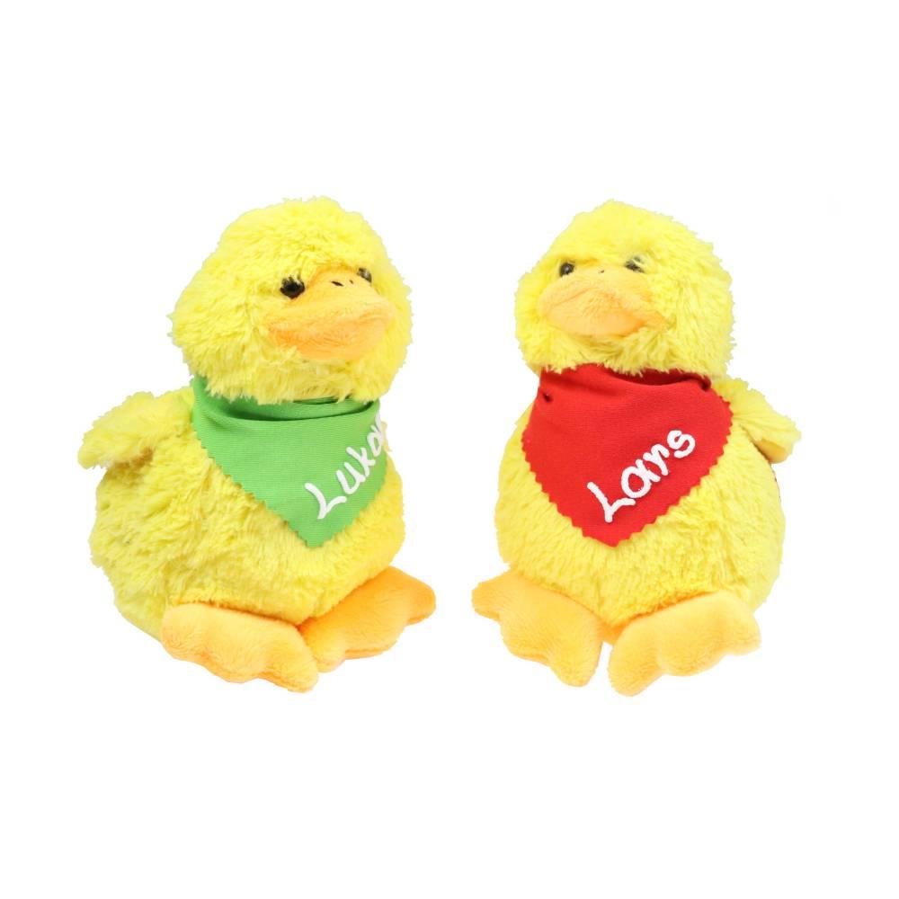 Kuscheltier Küken gelb 12cm mit Namen am Halstuch - Personalisierte Schmusetiere für Jungen und Mädchen Ostergeschenk Bild 1