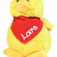 Kuscheltier Küken gelb 12cm mit Namen am Halstuch - Personalisierte Schmusetiere für Jungen und Mädchen Ostergeschenk Bild 3