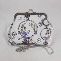 Geldbörse, mini Clutch, Make up Tasche, Pin up, weiß, Hochzeit Bild 1