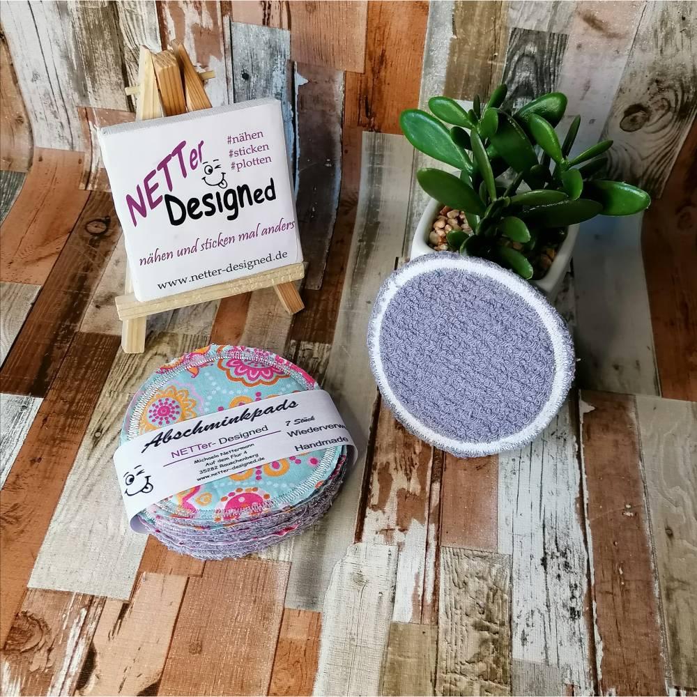 Nachhaltige, umweltfreundliche, wiederverwendbare Abschminkpas, kein Abfall, Baumwolle Make-up Pad 7 Stück Bild 1