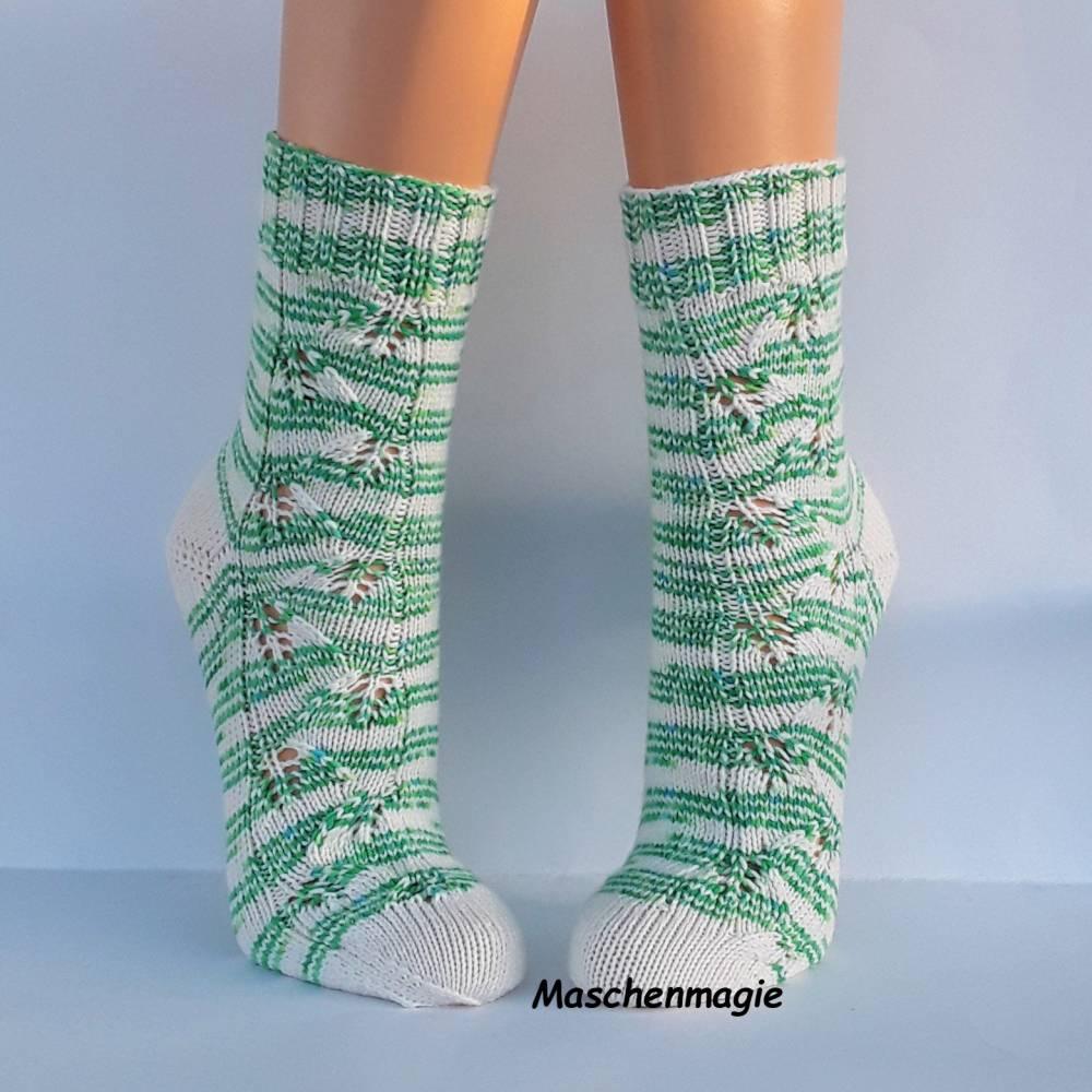 Socken Damensocken handgestrickt Größe 38/39 Bild 1