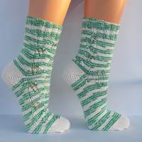 Socken Damensocken handgestrickt Größe 38/39 Bild 2