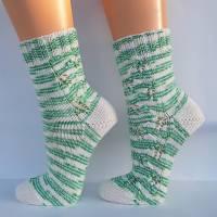 Socken Damensocken handgestrickt Größe 38/39 Bild 3