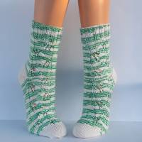 Socken Damensocken handgestrickt Größe 38/39 Bild 5