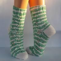 Socken Damensocken handgestrickt Größe 38/39 Bild 8