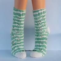 Socken Damensocken handgestrickt Größe 38/39 Bild 9